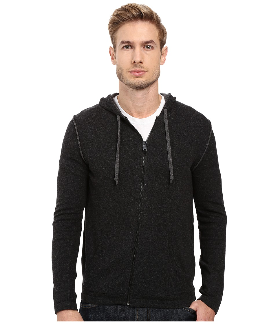 Lucky Brand - Black Label Full Zip Hood (Charcoal) Men's Clothing