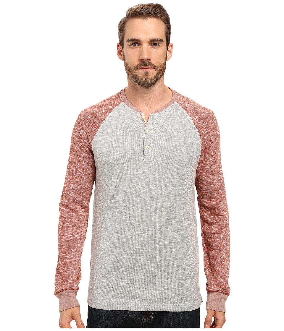 Lucky Brand Grey Label Color Block Henley (Red Multi) Men