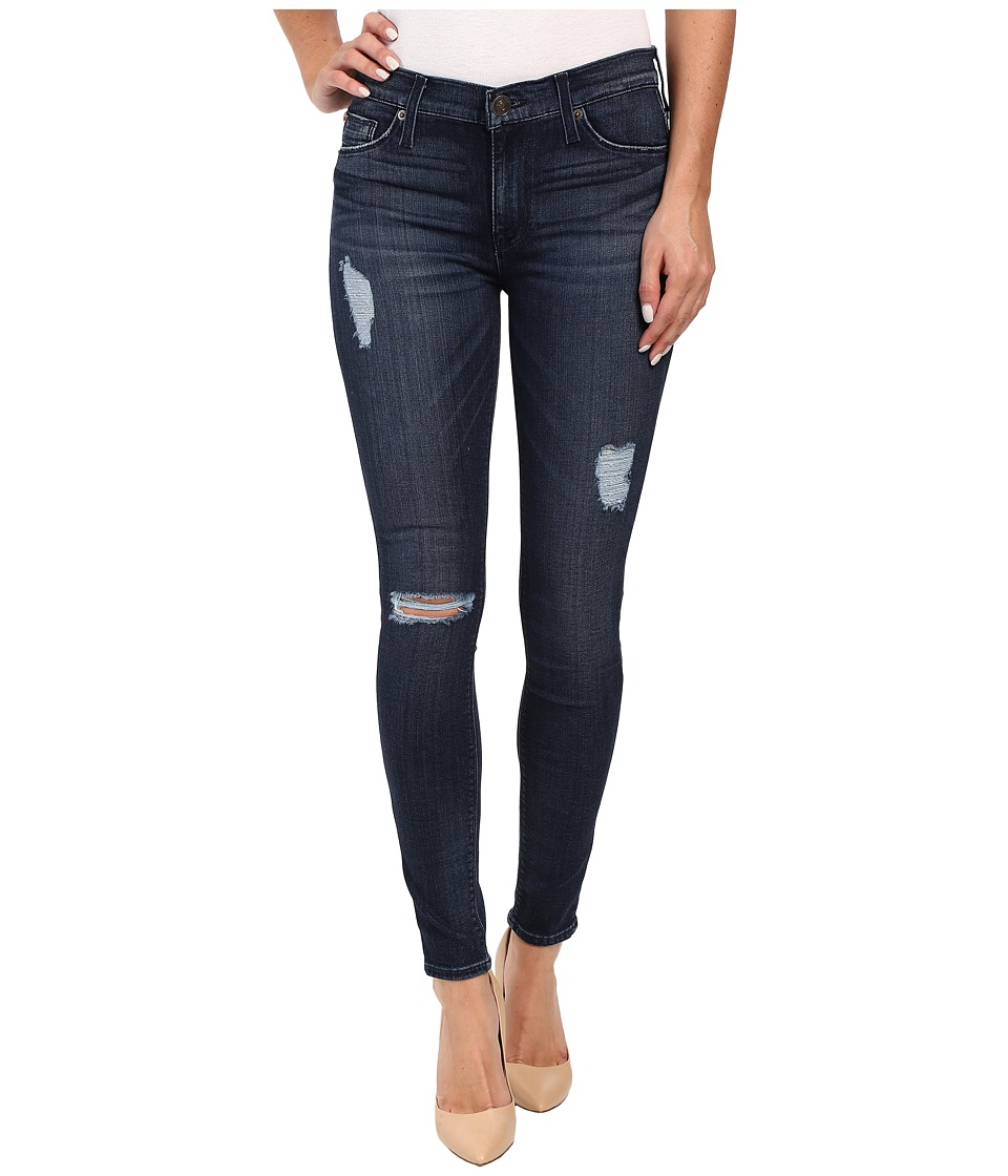 Hudson - Nico Mid-Rise Ankle Skinny Distressed in Anchor Light 2 (Anchor Light 2) Women's Jeans