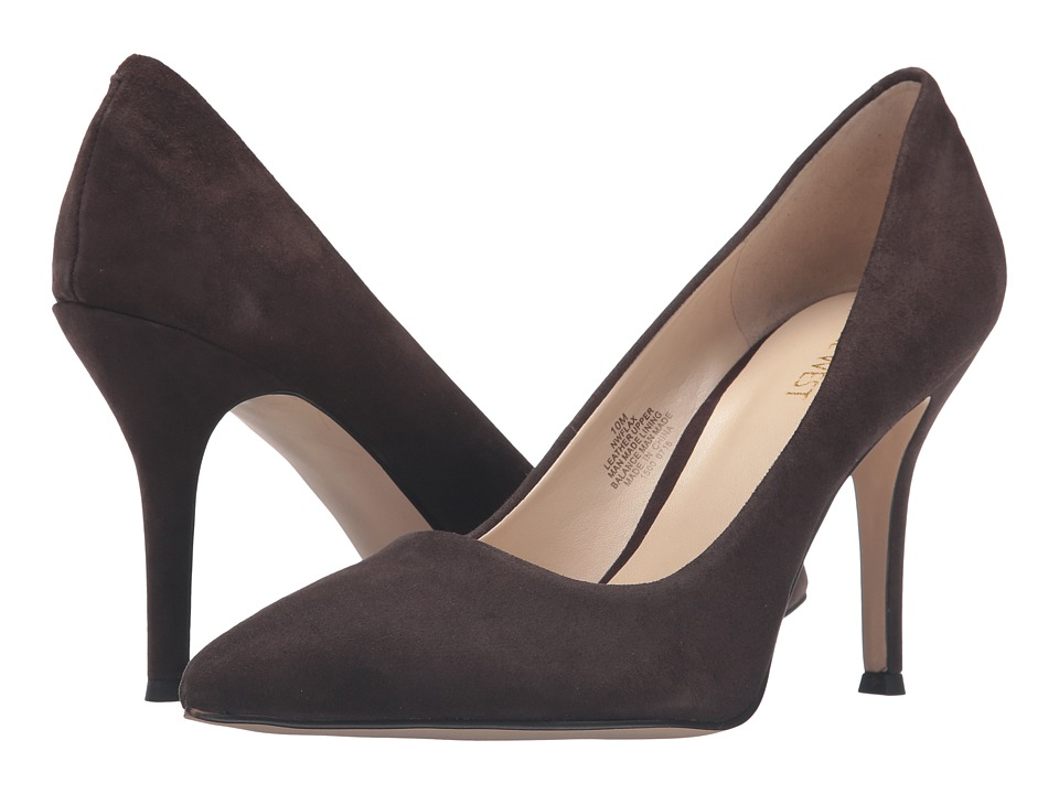 Nine West Flax Dark Brown Suede 1 High Heels