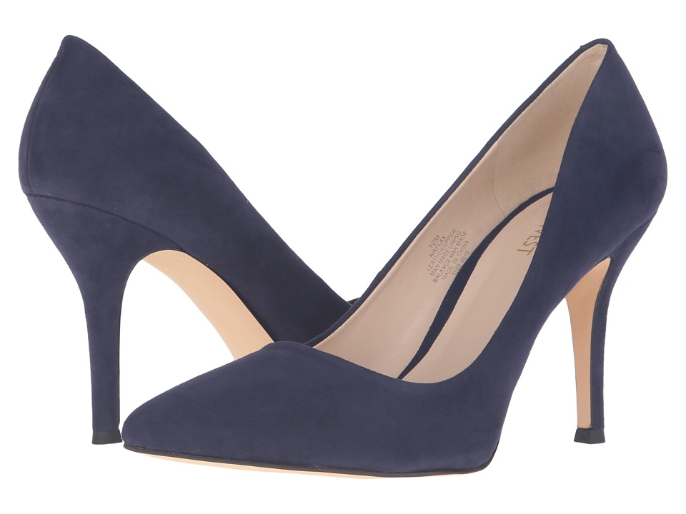 Nine West - Flax (Navy Kid Suede) High Heels