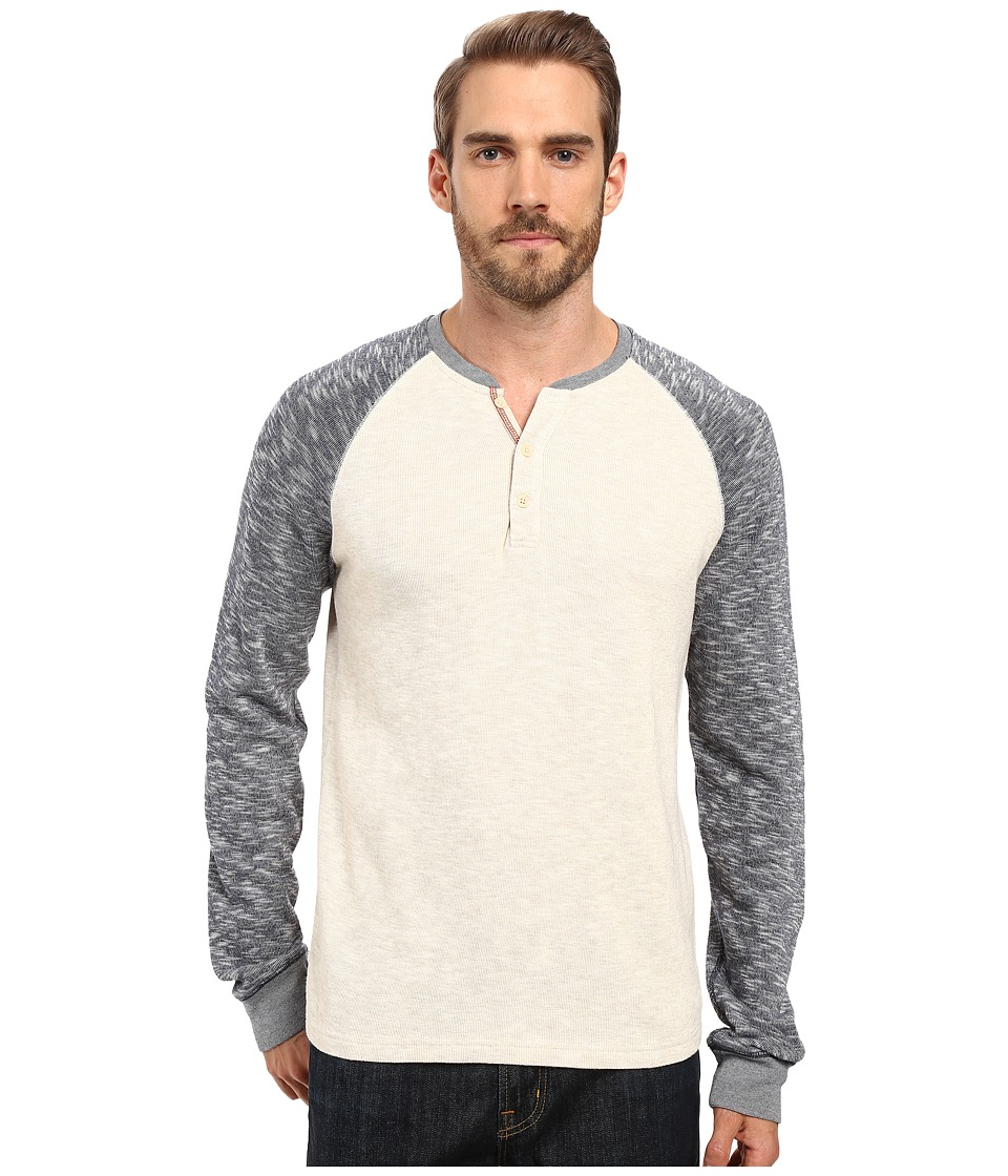 Lucky Brand - Grey Label Color Block Henley (Oatmeal) Men's Clothing