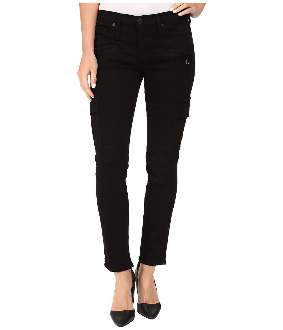 Hudson - Colby Ankle Moto Skinny Cargo in Black (Black) Women's Jeans