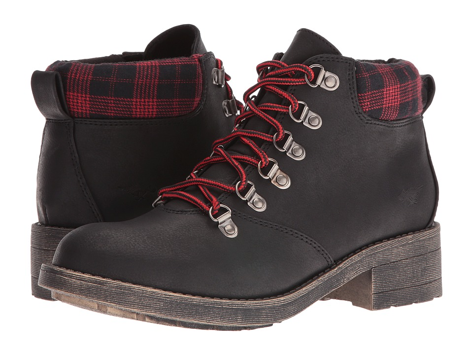 Rocket Dog - Timber (Black Graham) Women's Lace-up Boots