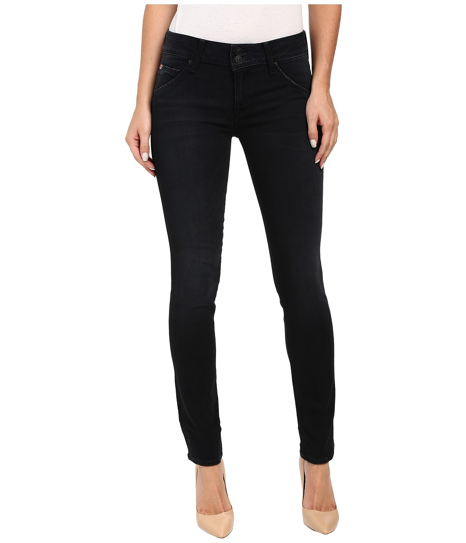 Hudson - Collin Mid-Rise Skinny in Washed Black in Hardline (Hardline) Women's Jeans