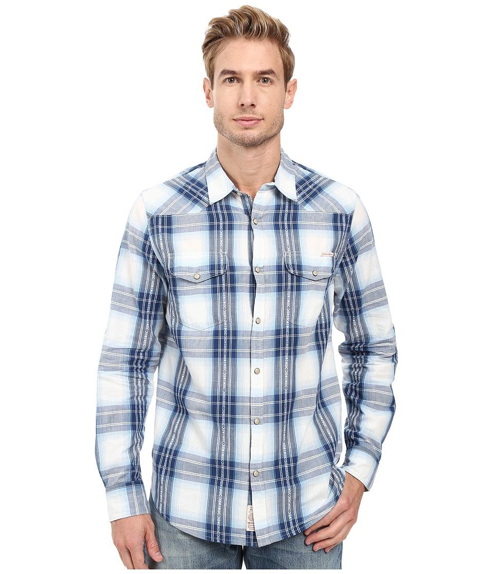 Lucky Brand - Santa Fe Western Shirt (Natural/Navy) Men's Clothing