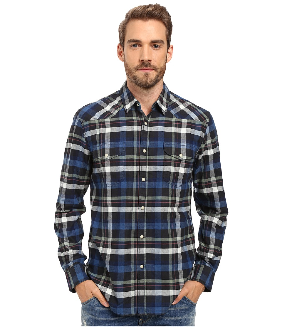 Lucky Brand - Santa Fe Western Shirt (Blue/Green/Natural) Men's Clothing