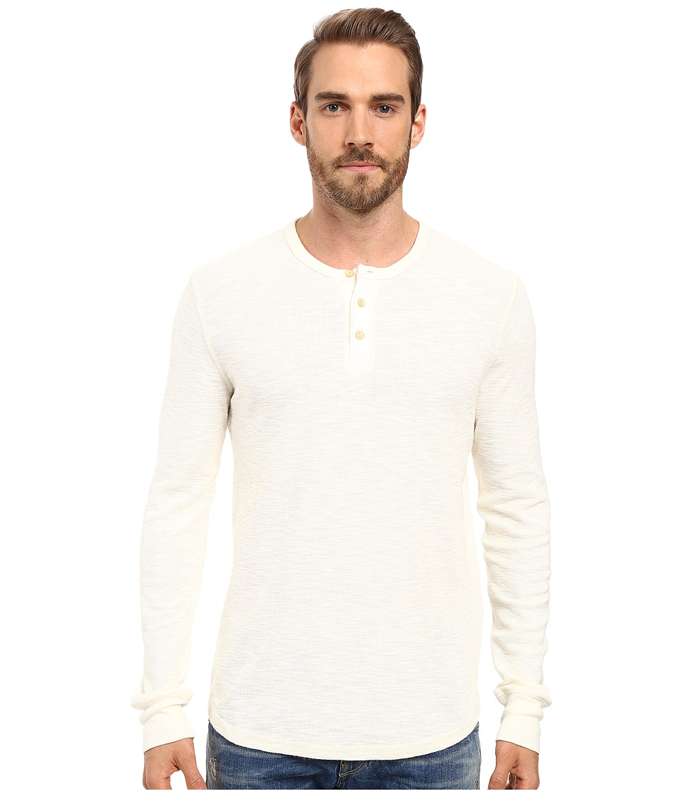 Lucky Brand - Thermal Henley (Marshmallow) Men's Clothing