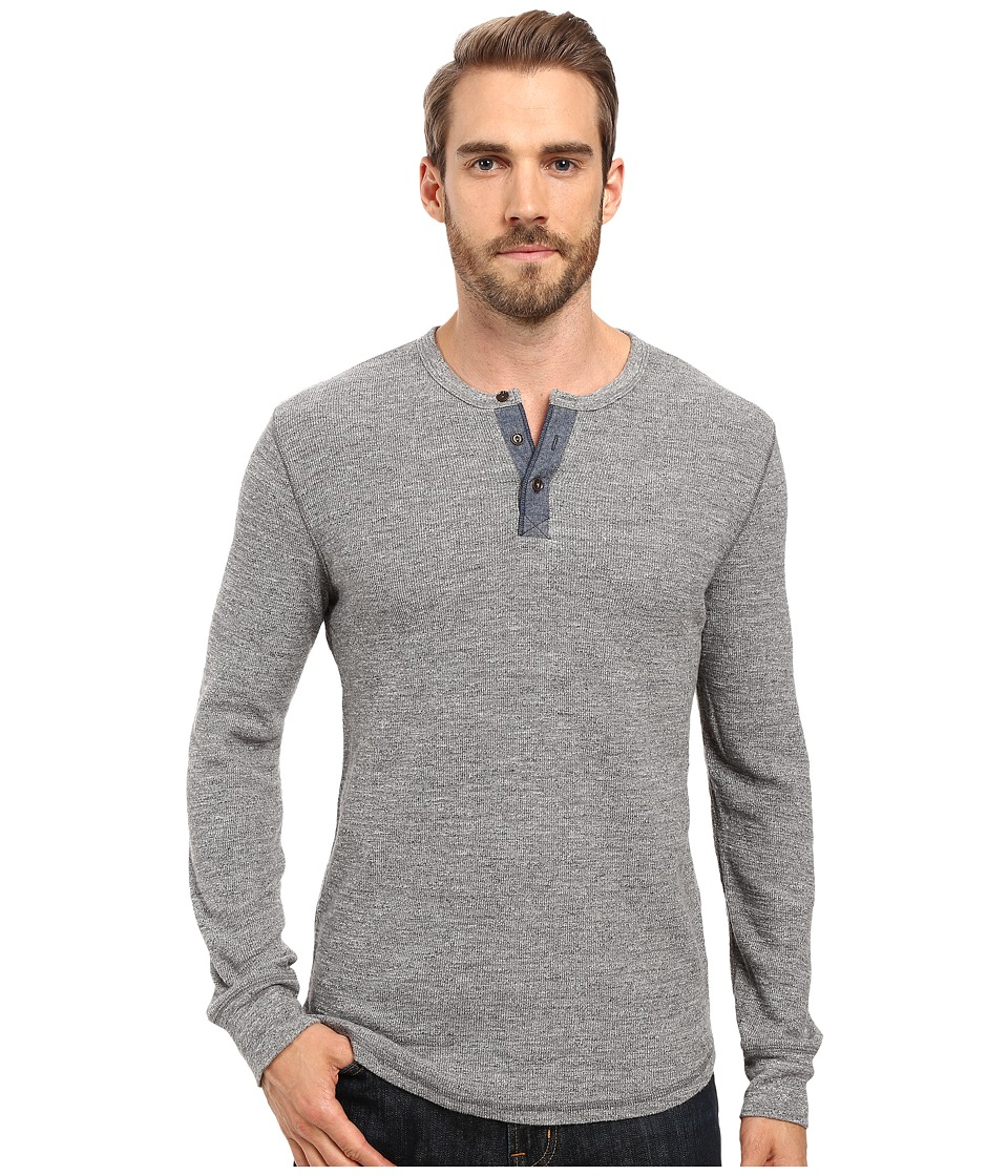 Lucky Brand - Thermal Henley (Heather Grey) Men's Clothing