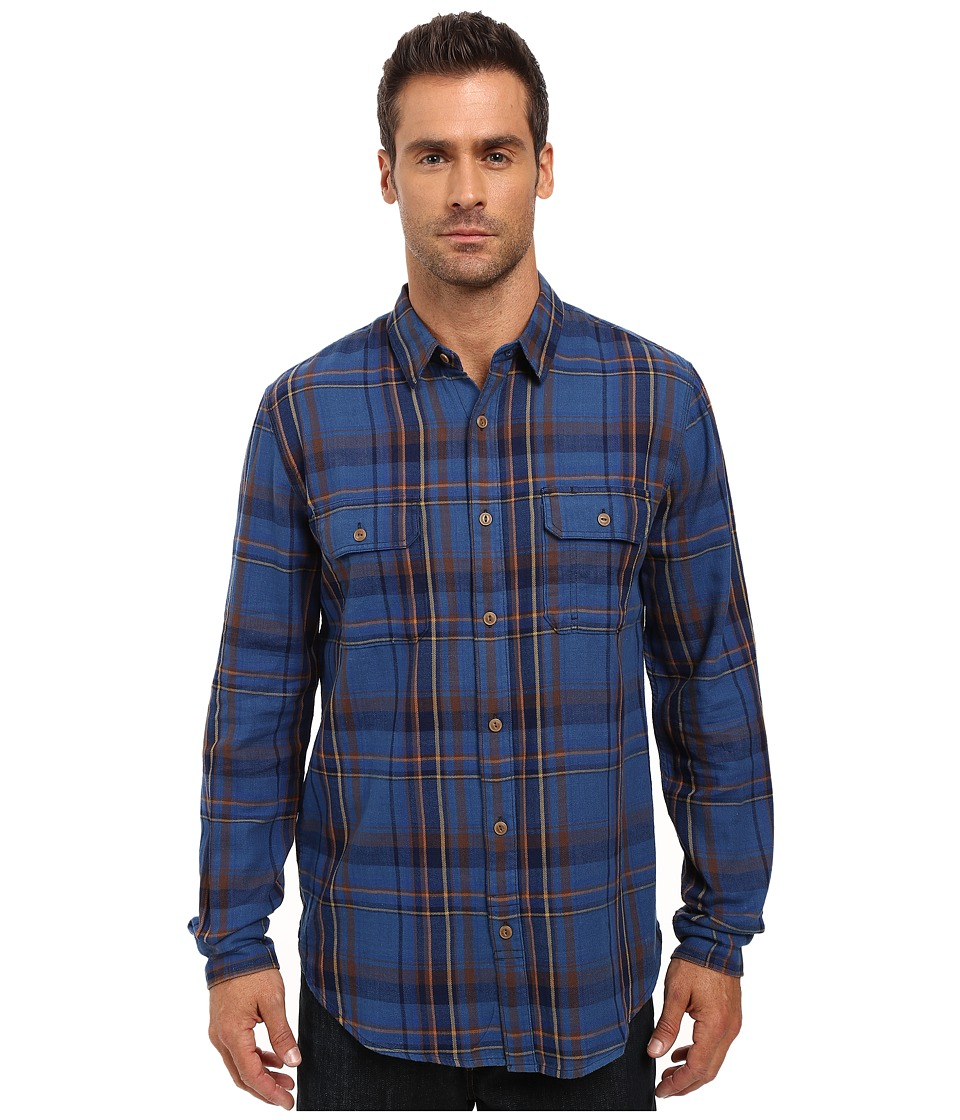 Lucky Brand - Miter Workwear Shirt (Indigo/Brown) Men's Clothing