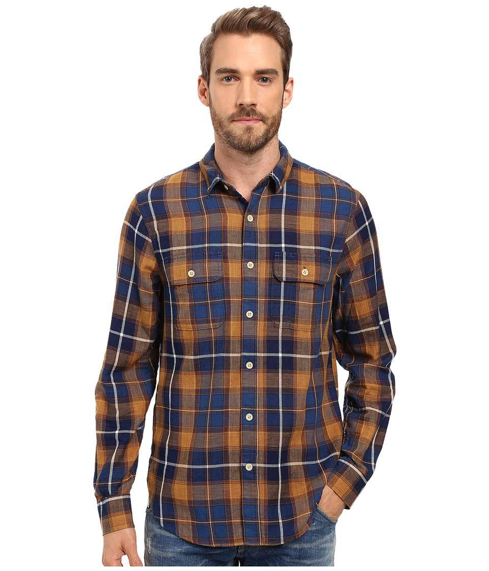 Lucky Brand - Miter Workwear Shirt (Indigo/Mustard) Men's Clothing