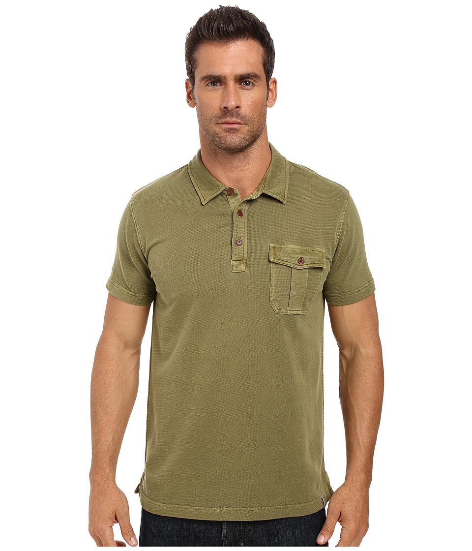 Lucky Brand - Short Sleeve Polo (Capulet Olive) Men's Clothing