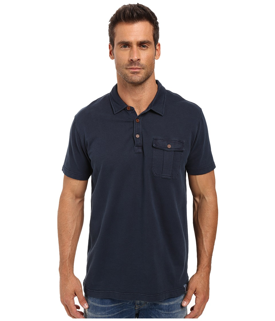 Lucky Brand - Short Sleeve Polo (Navy Blazer) Men's Clothing