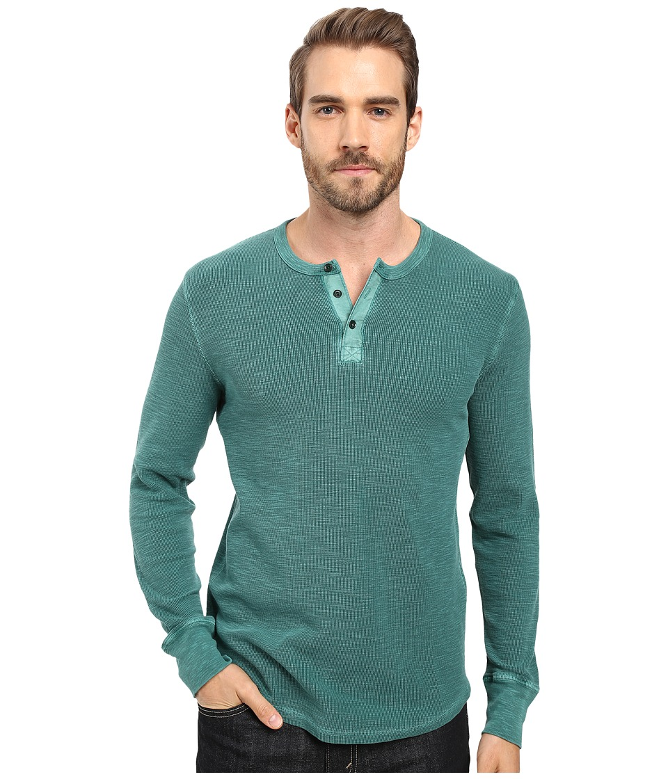 Lucky Brand - Thermal Henley (June Bug) Men's Clothing