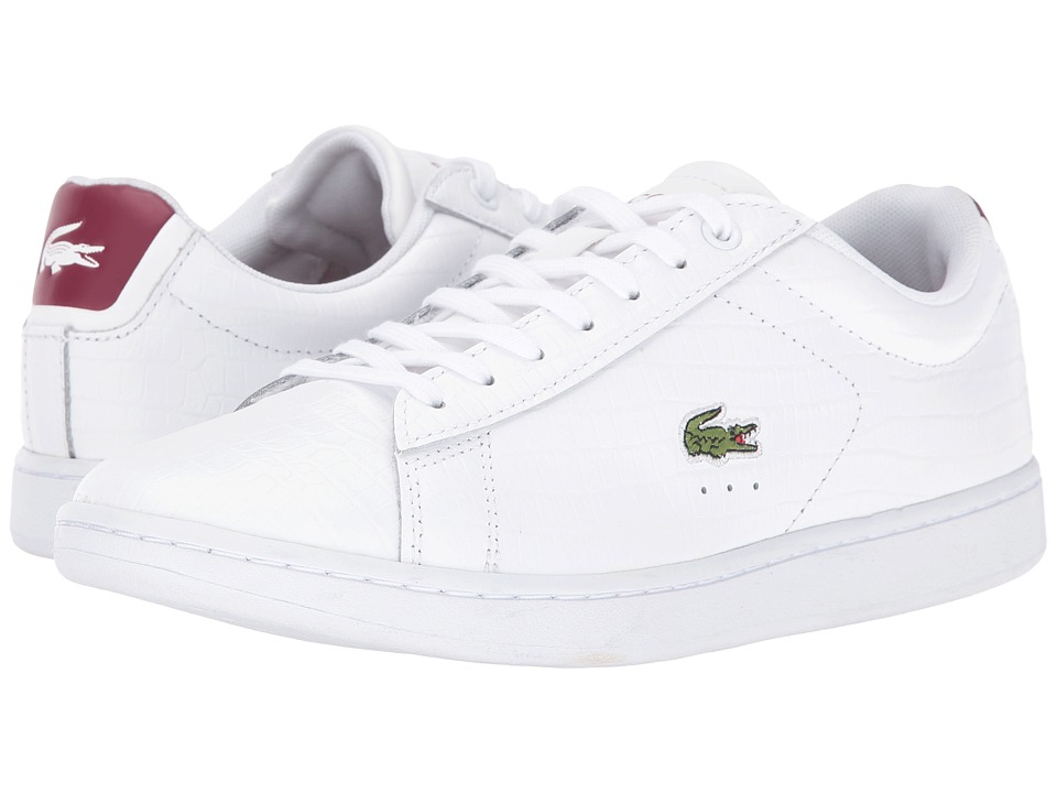 Lacoste - Carnaby Evo G316 8 (White/Red) Women's Shoes
