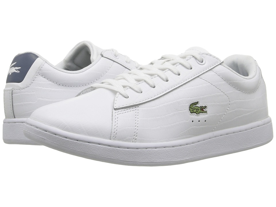 Lacoste - Carnaby Evo G316 8 (White/Blue) Women's Shoes