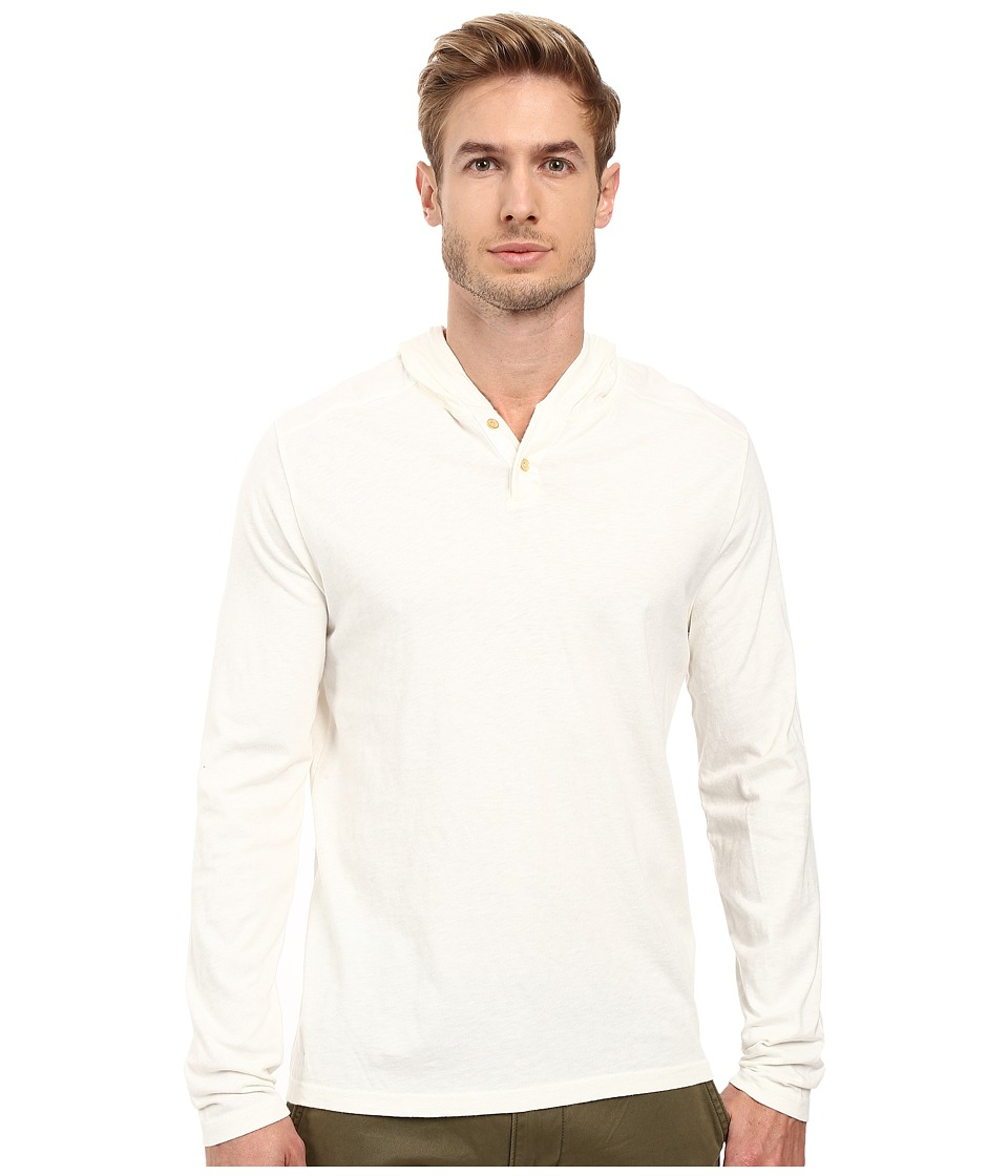 Lucky Brand - Two-Button Henley with Hood (Marshmellow) Men's Clothing