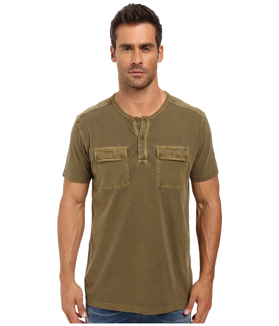 Lucky Brand - Short Sleeve Two-Pocket Henley (Beech) Men's Short Sleeve Pullover