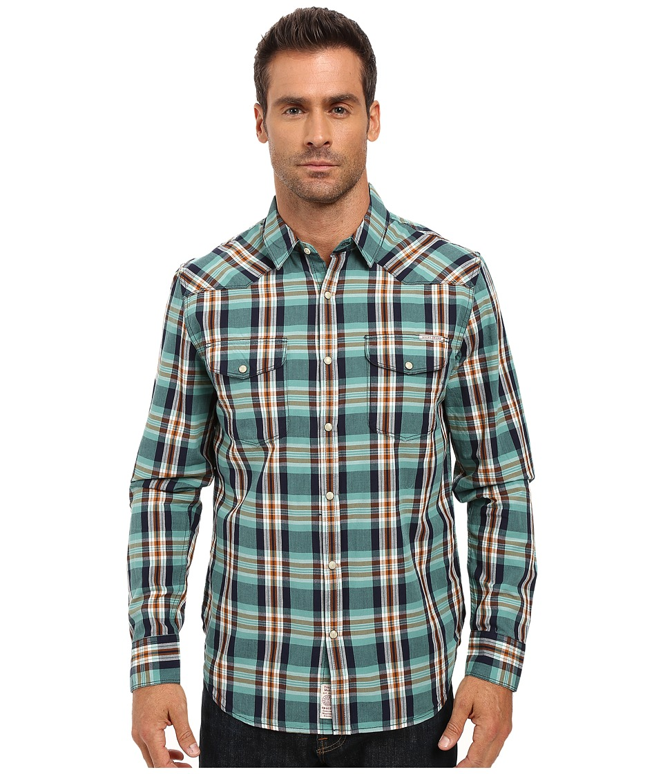 Lucky Brand - Santa Fe Western Shirt (Blue/Green/Orange Spice) Men's Clothing