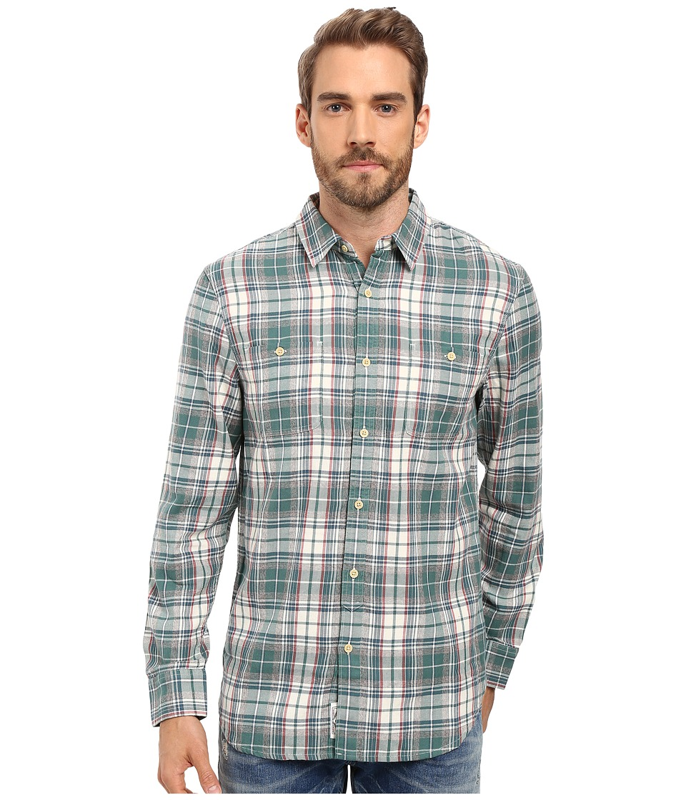 Lucky Brand - Mason Workwear Shirt (Green/Red/Blue) Men's Clothing