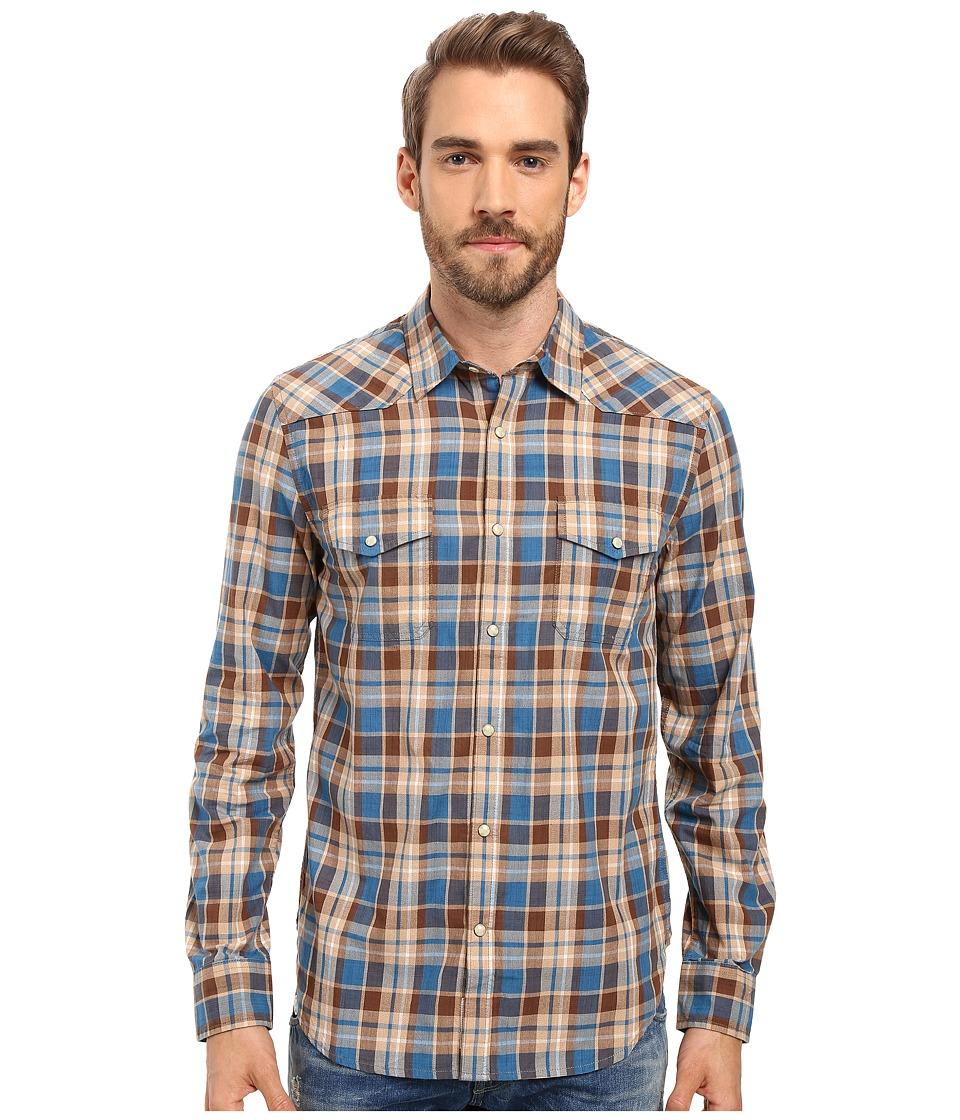 Lucky Brand - San Berdu Western Shirt (Blue/Brown) Men's Clothing