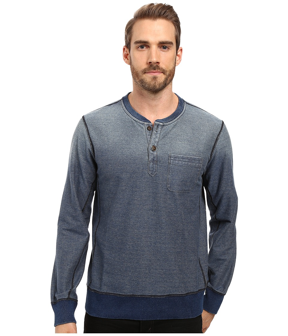 Lucky Brand - Indigo Henley (Indigo) Men's Clothing