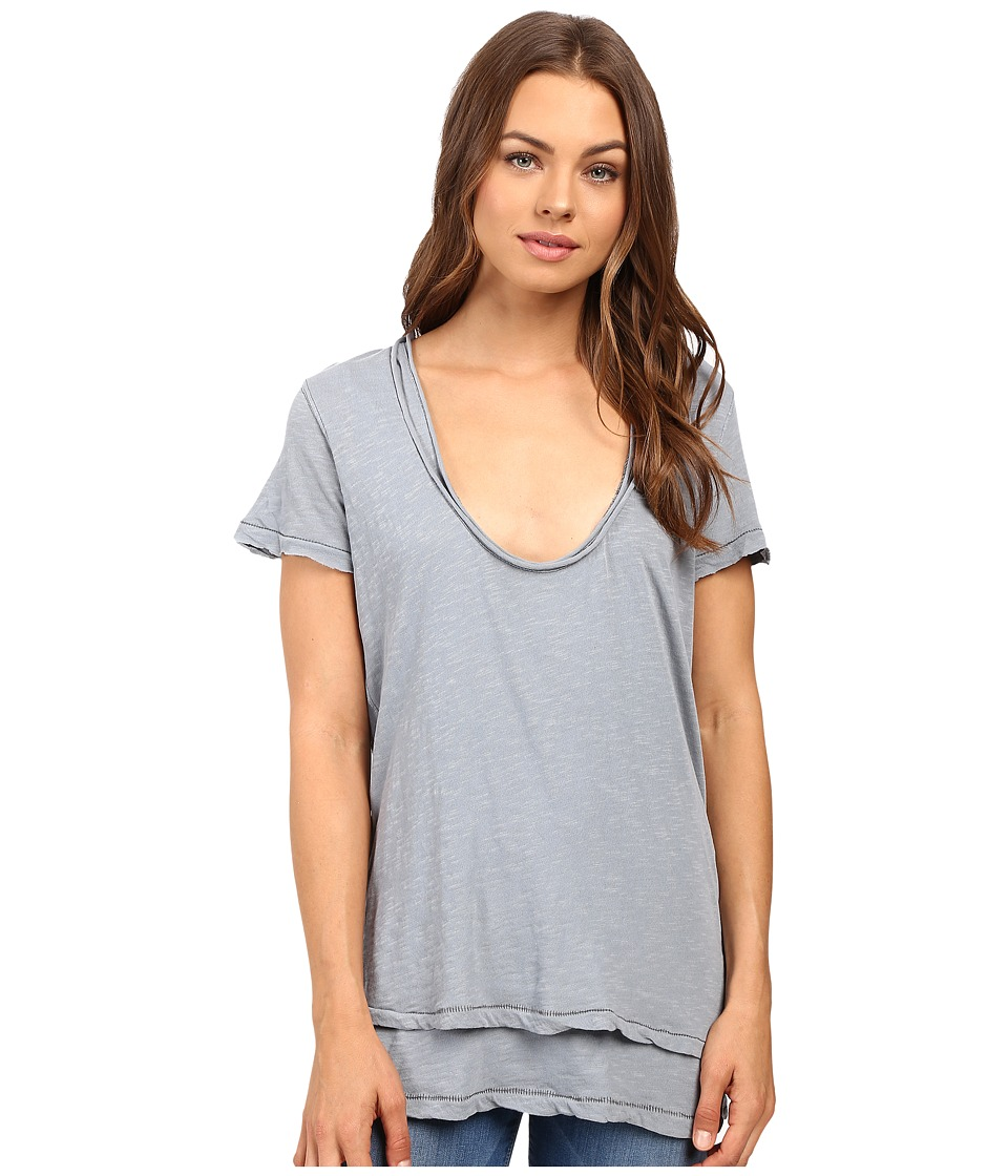 Free People - Phoebe Tee (Silver) Women's T Shirt