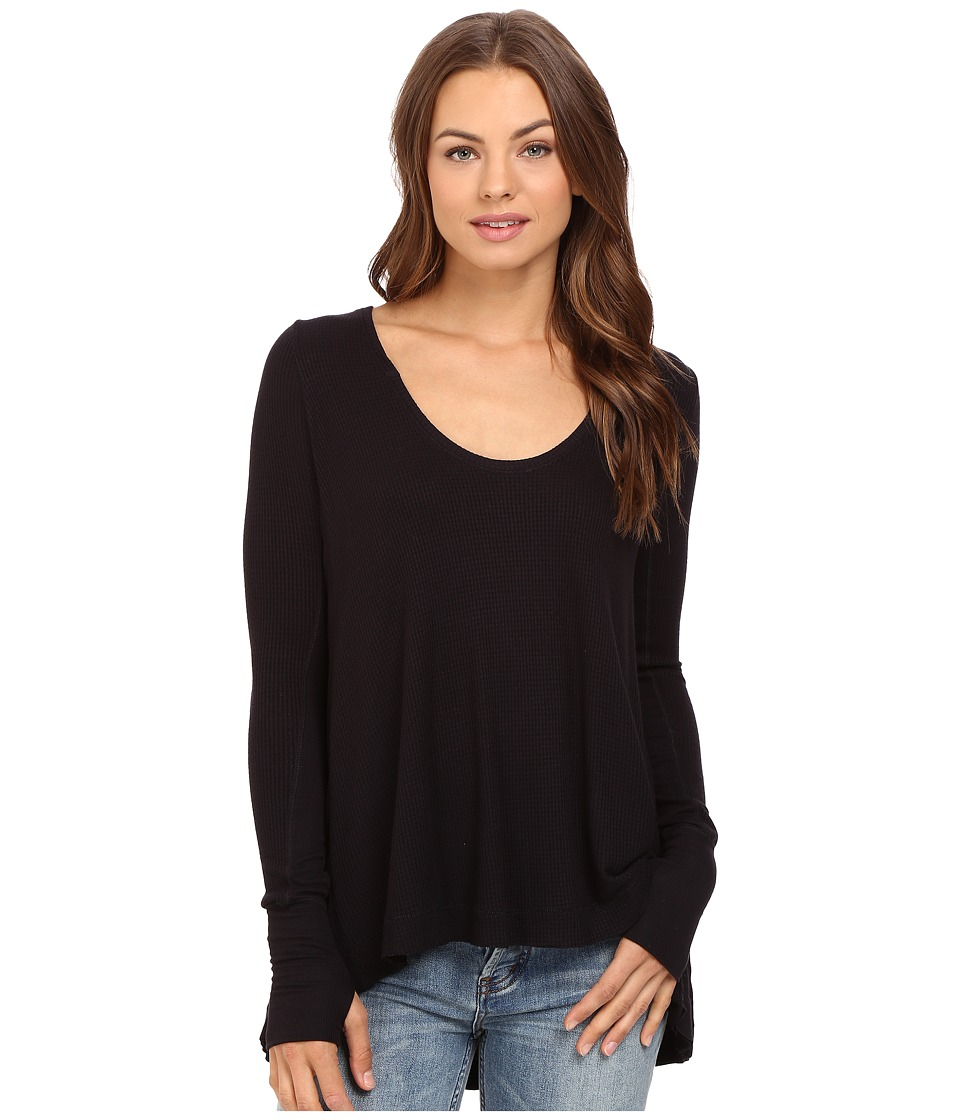 Free People - Malibu Thermal (Black) Women's Clothing