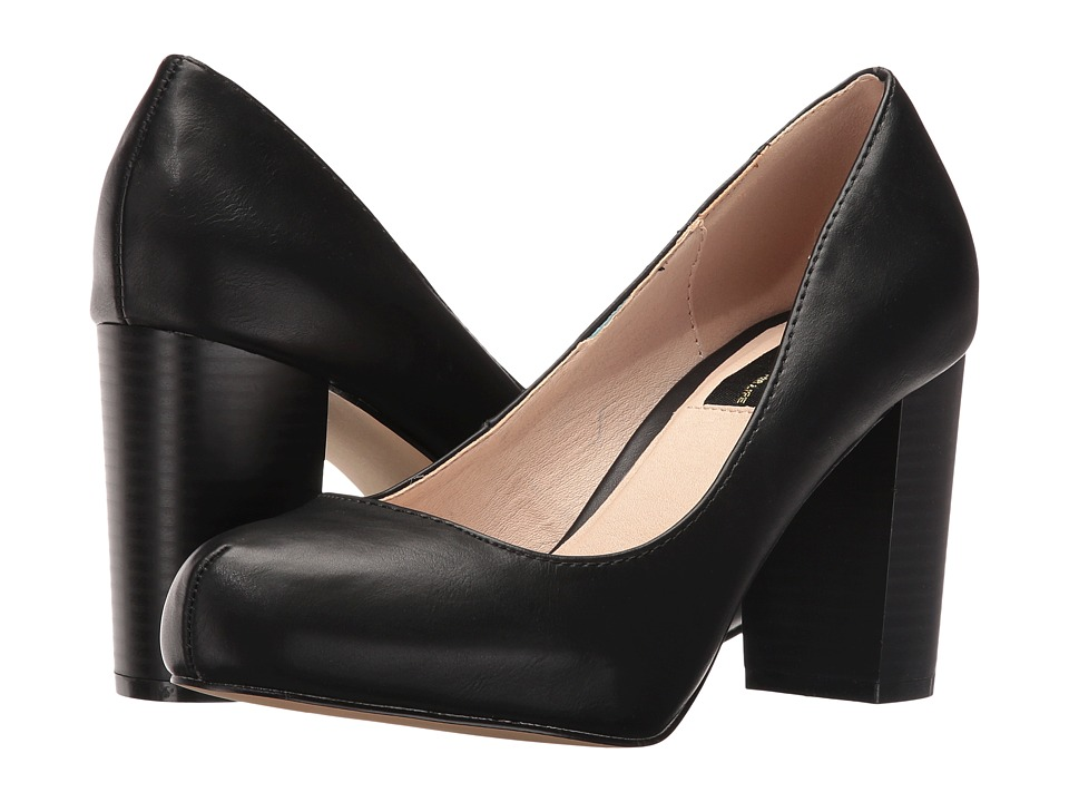 LFL by Lust For Life - Paige (Black Nappa PU) High Heels