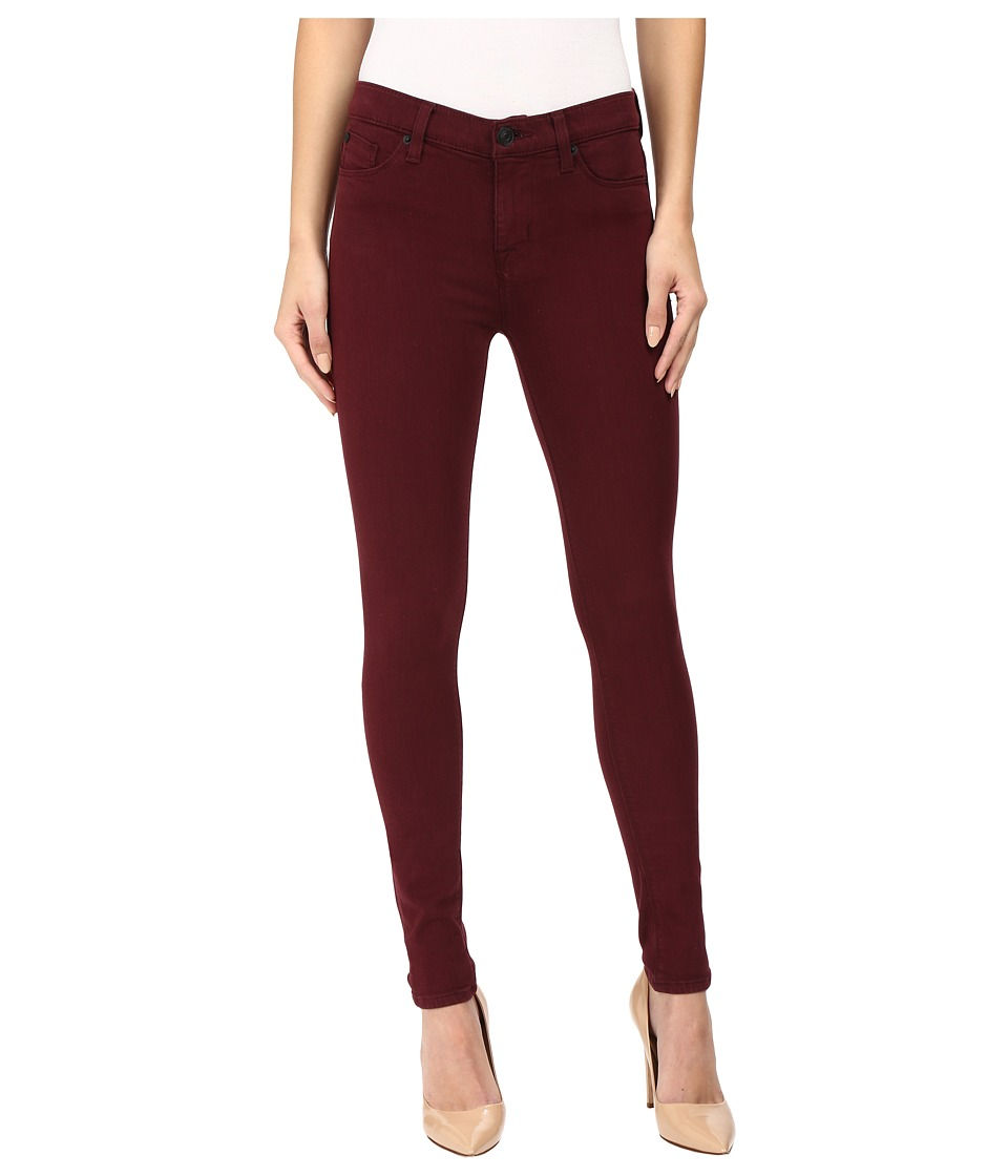 Hudson - Nico Mid-Rise Ankle Skinny in Cabernet (Cabernet) Women's Jeans