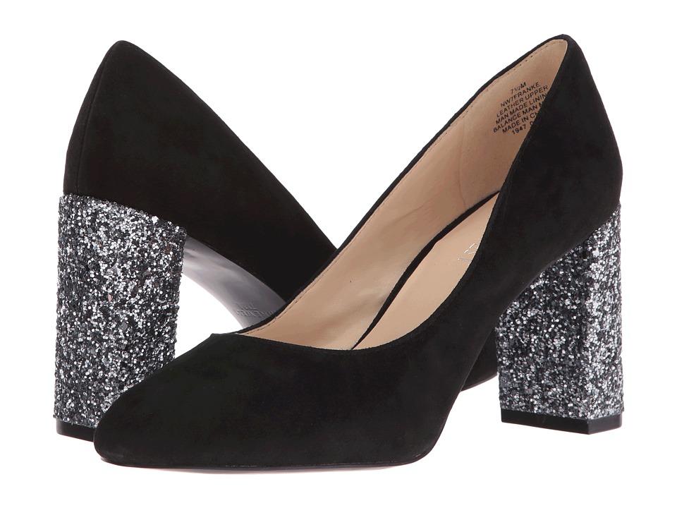 Nine West - Franke (Black Suede) Women's Plain Toe Shoes