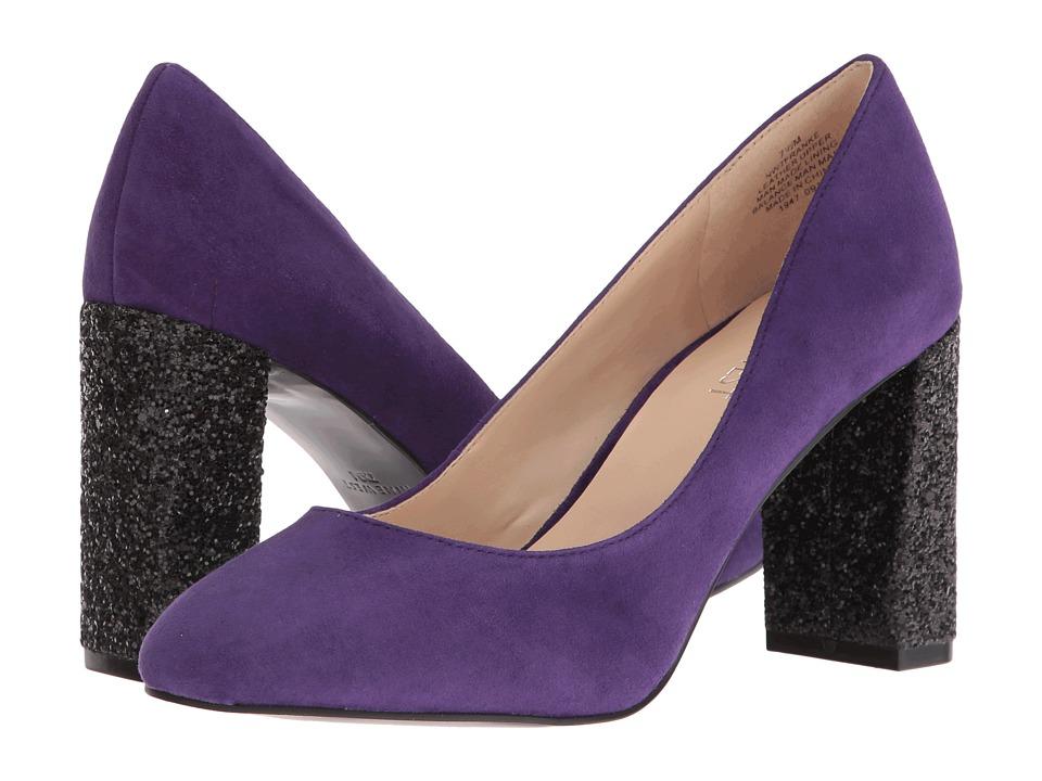 Nine West Franke Dark Purple Suede Womens Plain Toe Shoes