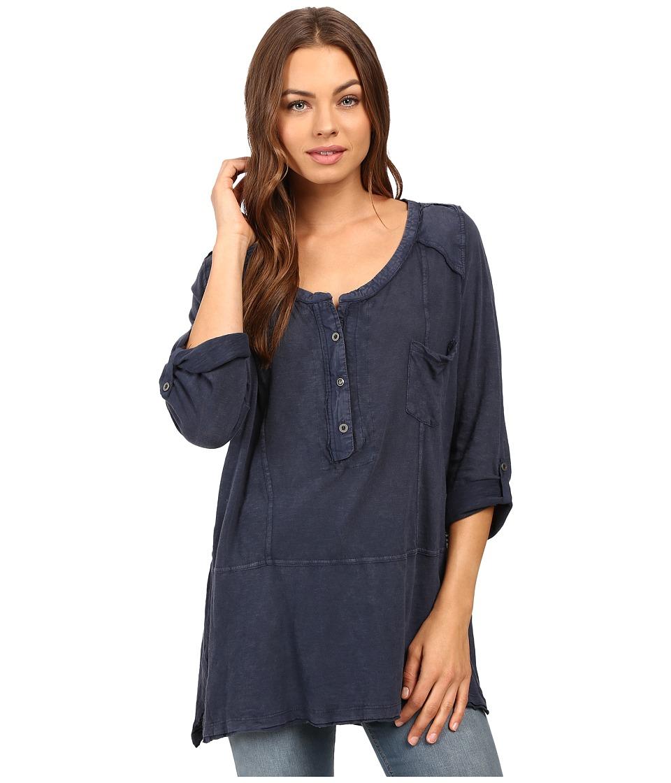 Free People - Stargazer Henley (Blue) Women's Clothing