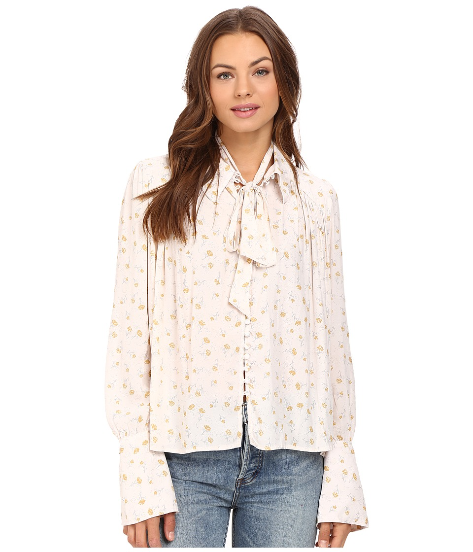 Free People - Modern Muse Top (Ivory Combo) Women's Long Sleeve Button Up