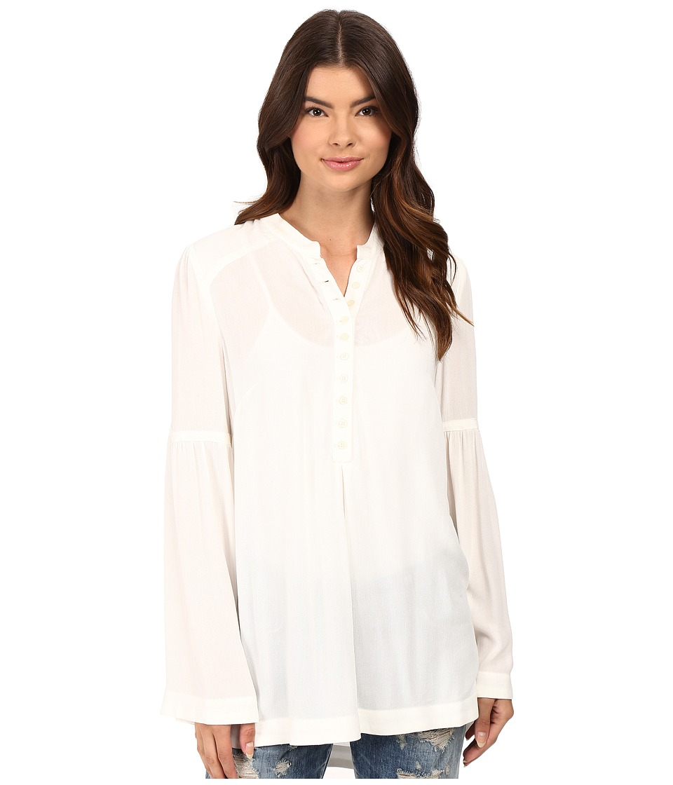 Free People - Easy Girl Button Down Top (Ivory) Women's Clothing
