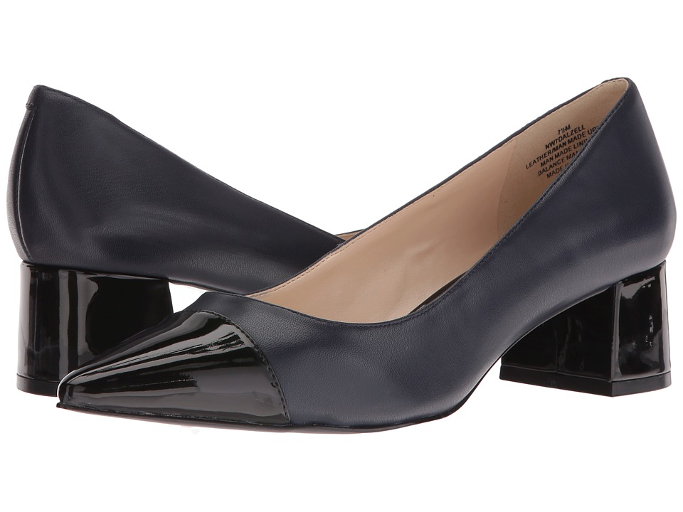 Nine West - Dalzell (Navy Leather/Navy Synthetic) Women's Shoes