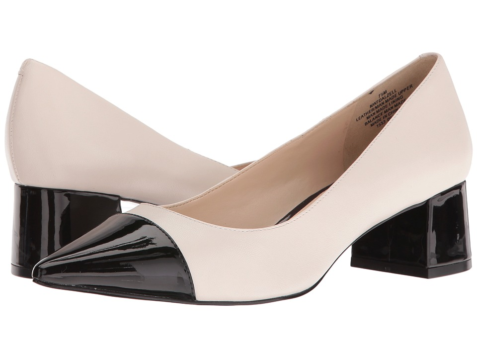 Nine West - Dalzell (Ivory Leather/Black Synthetic) Women's Shoes