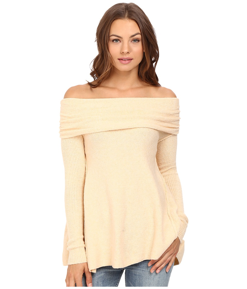 Free People - Strawberry Fields Off the Shoulder Sweater (Cream) Women's Sweater