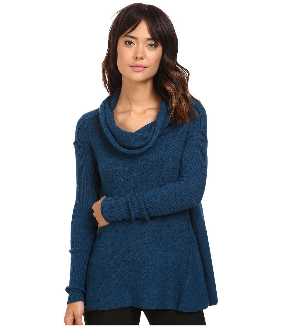 Free People - Strawberry Fields Off the Shoulder Sweater (Blue) Women's Sweater