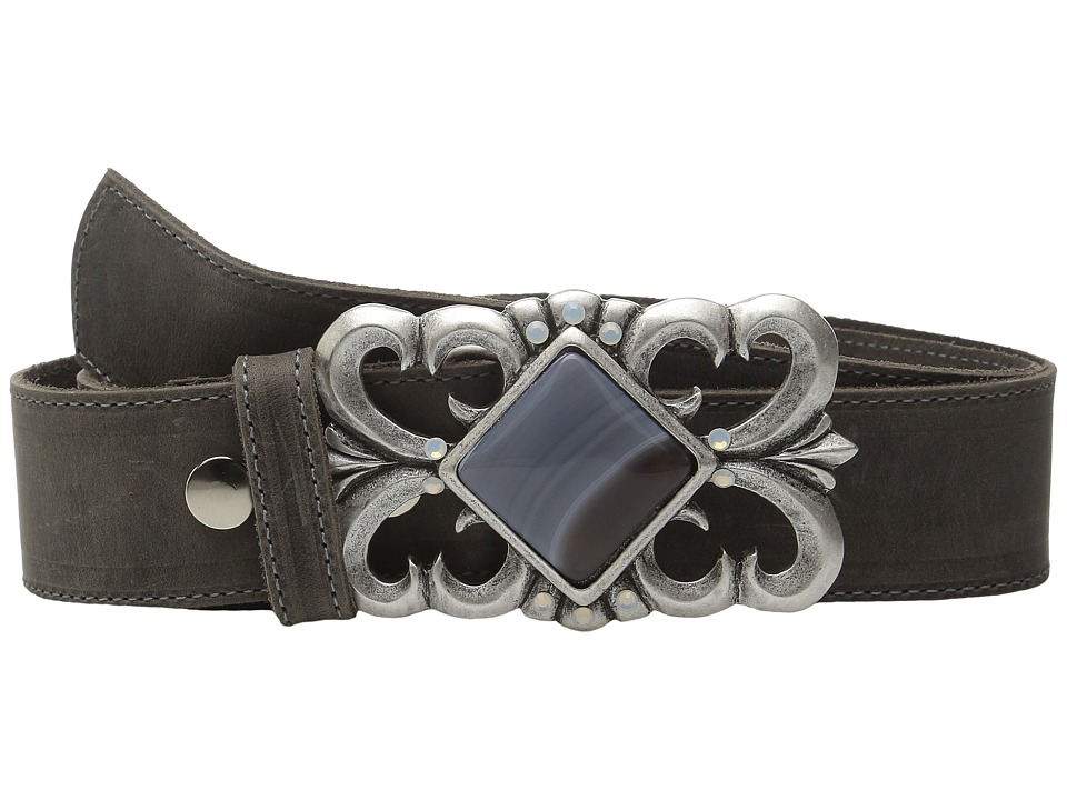 Leatherock - 1665 (Rough Charcoal) Women's Belts