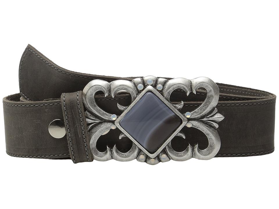 Leatherock - 1665 (Rough Charcoal) Women's Belts
