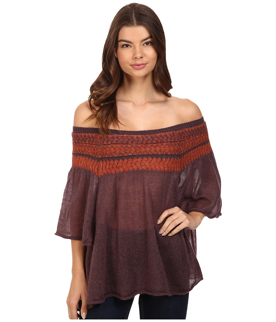 Free People - Lock Lomand Off the Shoulder Top (Purple Combo) Women's Clothing