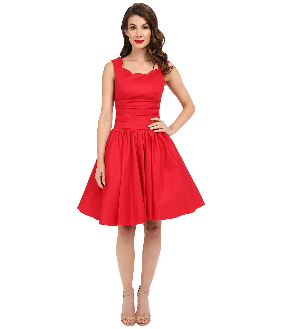 Unique Vintage - Roman Holiday Retro Flare Dress (Red) Women's Dress