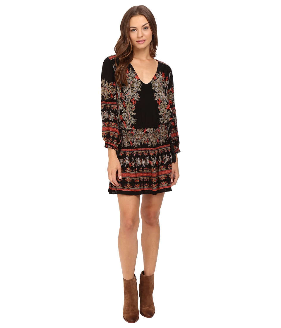 Free People - Moonlight Drive Mini Dress (Black Combo) Women's Dress