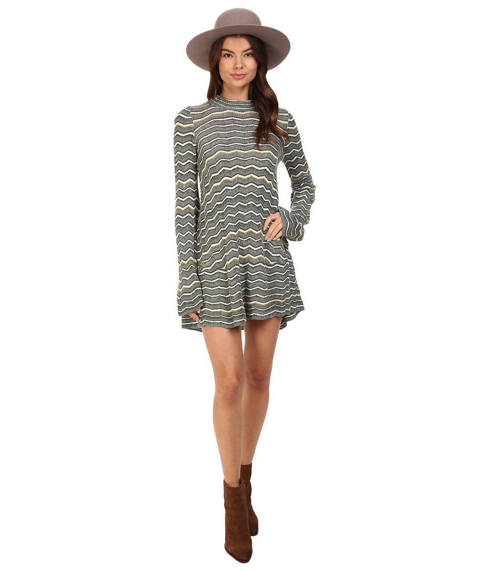Free People - Ziggy Sweater Dress (Blue Combo) Women's Dress