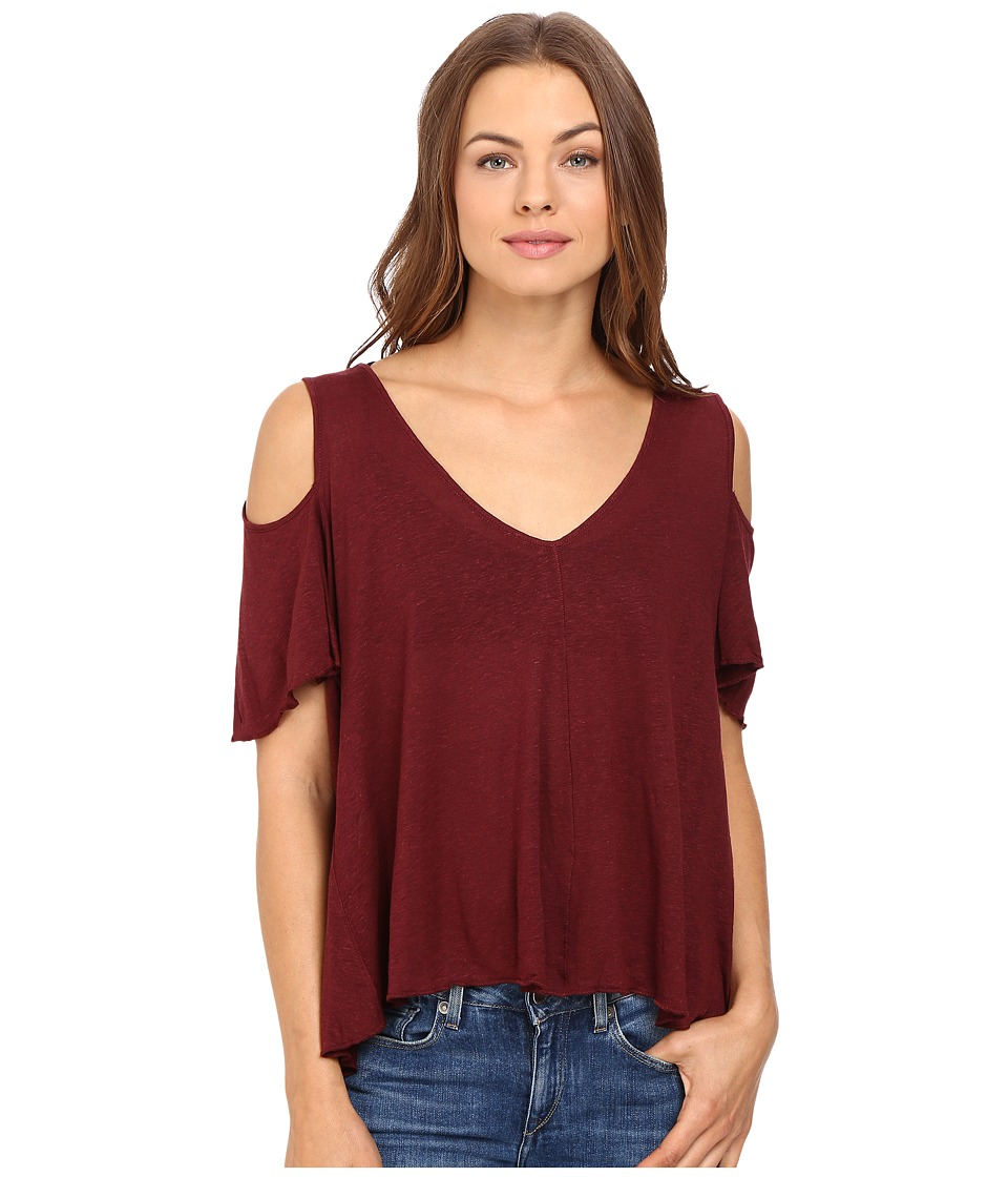 Free People - Bittersweet Tee (Wine) Women's T Shirt