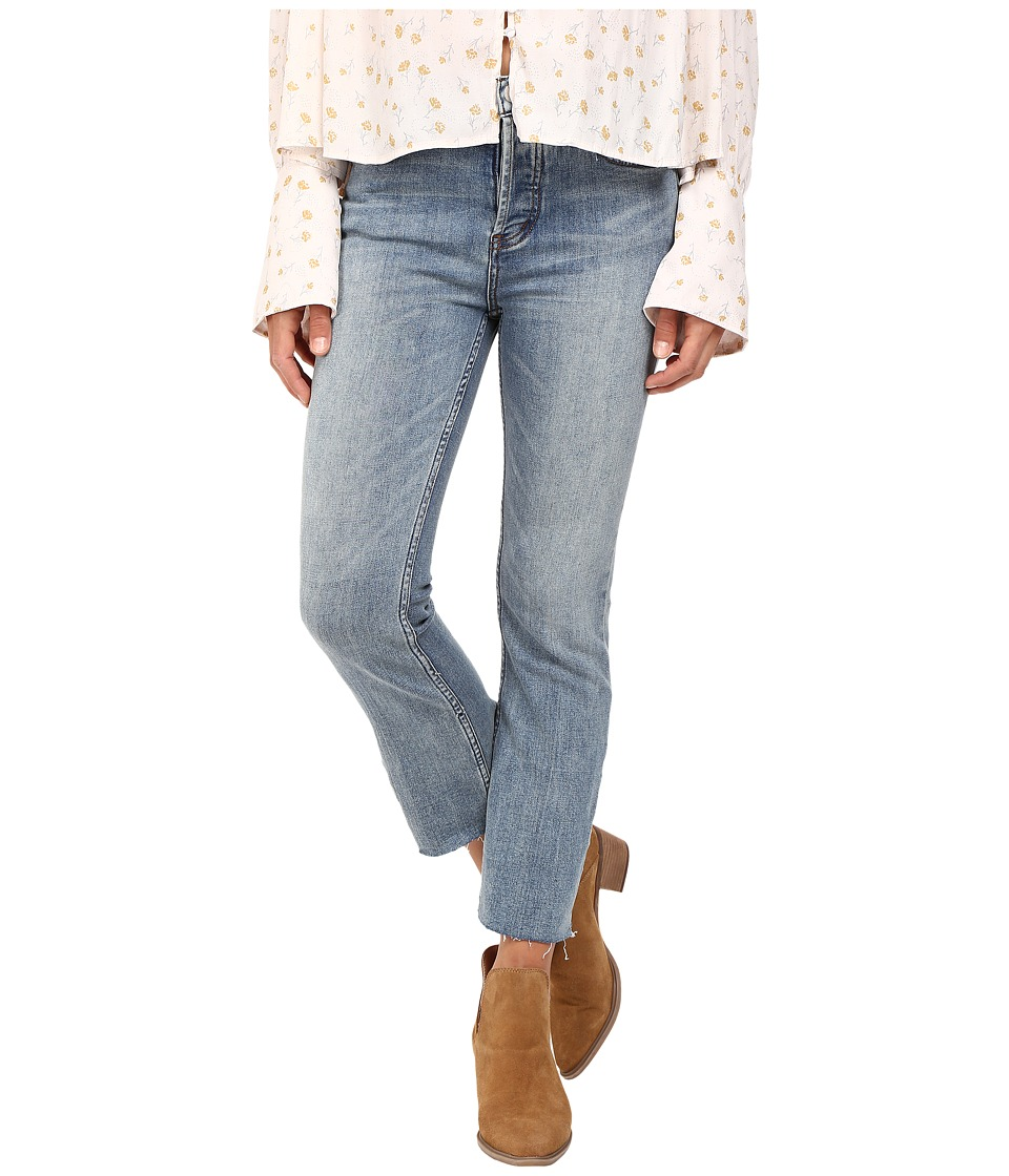 Free People - Far from Any Road Cropped Jeans in Denim Blue (Denim Blue) Women's Jeans