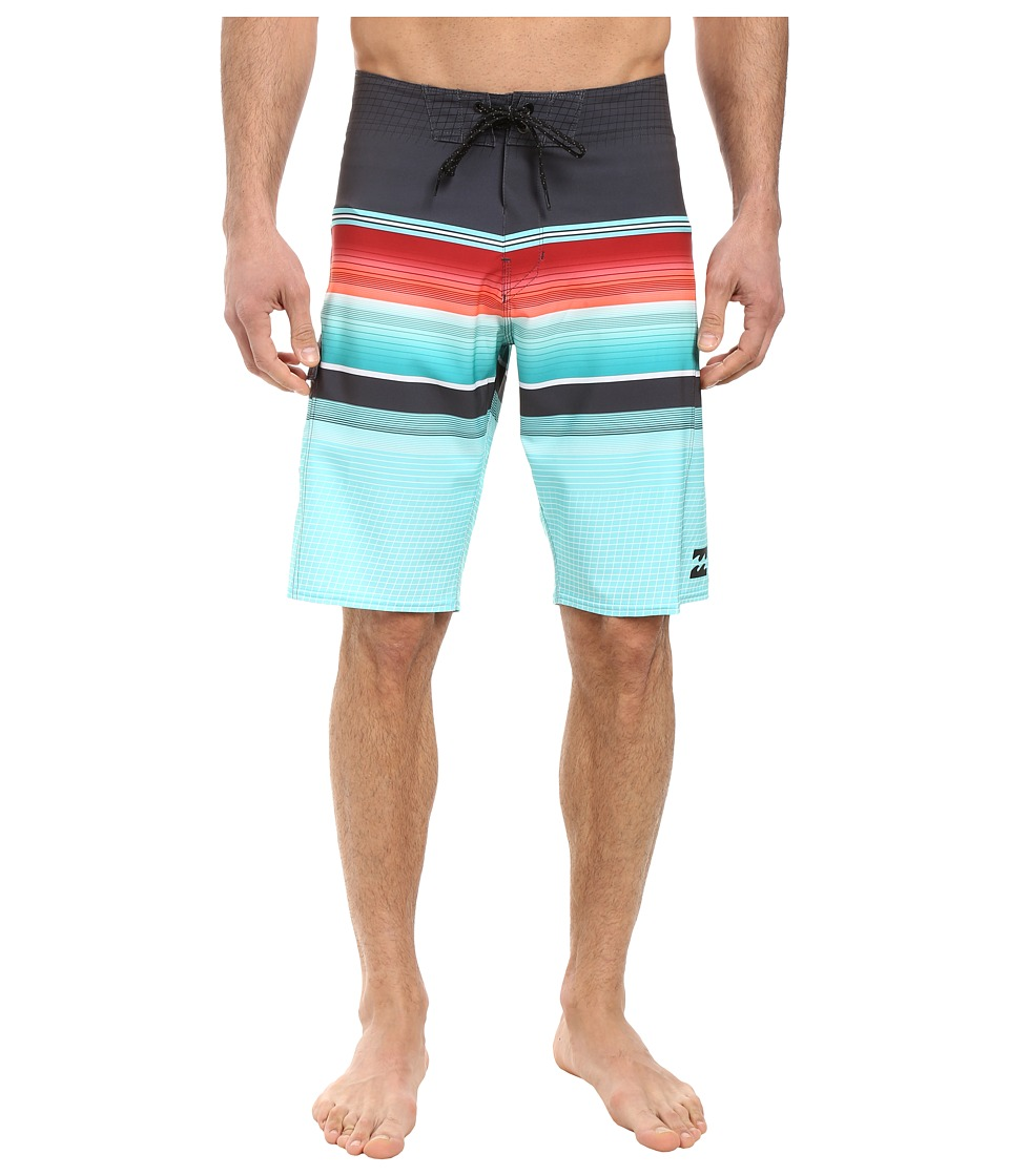 Billabong - All Day Stripe 21 Boardshorts (Aqua) Men's Swimwear