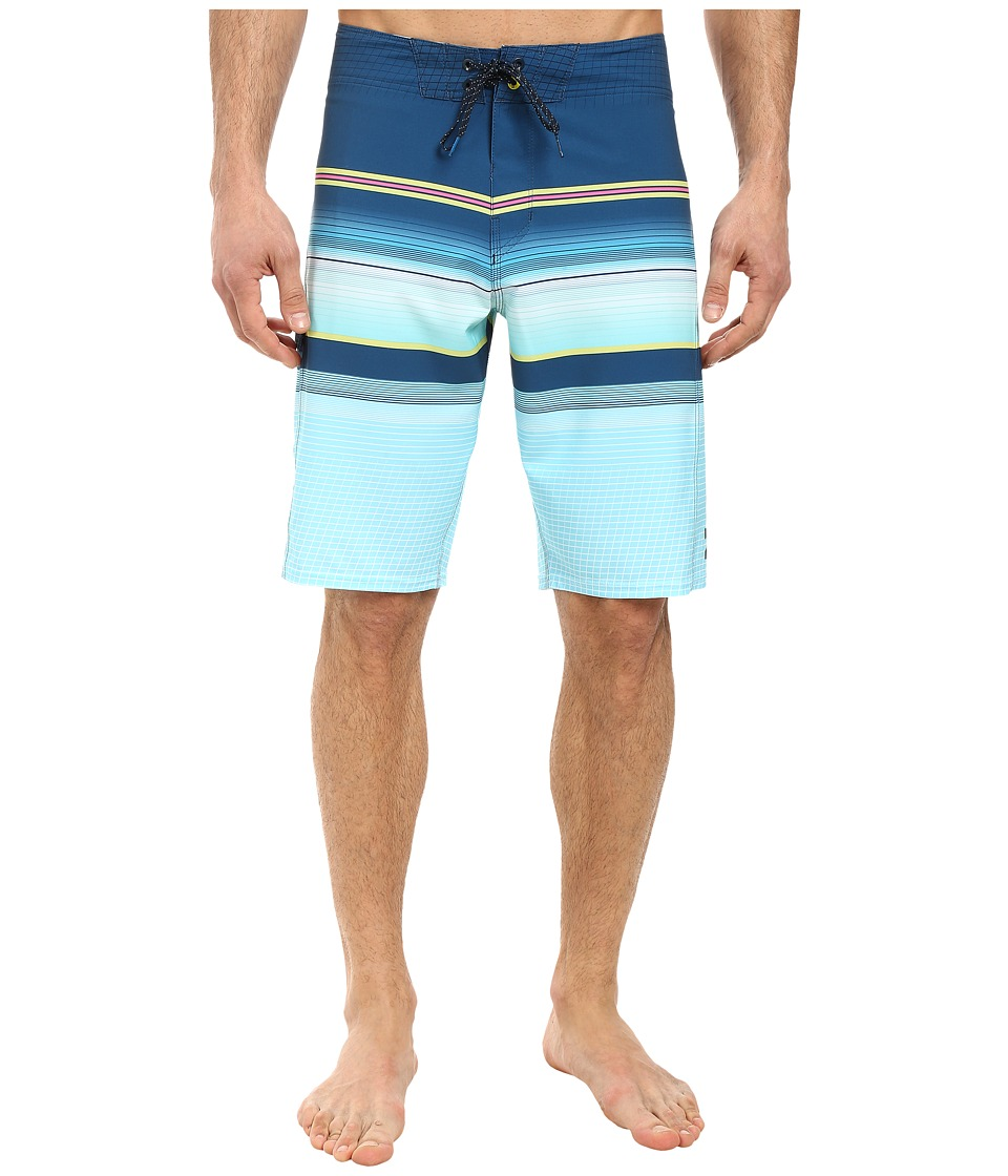 Billabong - All Day Stripe 21 Boardshorts (Indigo) Men's Swimwear