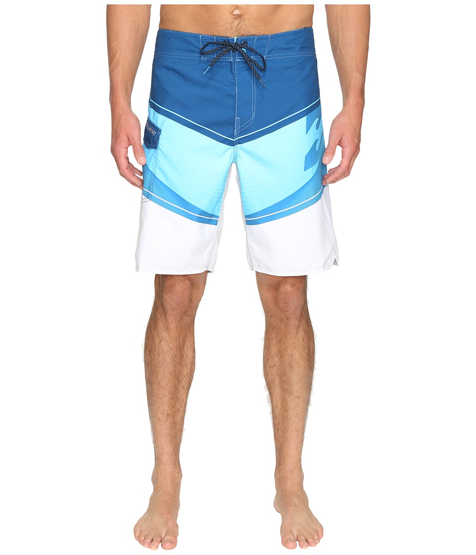 Billabong - Slice 21 Boardshorts (Blue) Men's Swimwear
